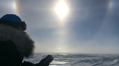 J8 – Message vocal de l'Antarctique !