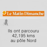 Le Matin Dimanche - Ils ont parcouru 42,195kms au pôle Nord