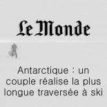 Le Monde - un couple réalise la plus traversée à ski