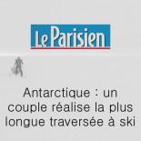 Le Parisien - un couple réalise la plus longue traversée à ski