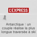 L'express - un couple réalise la plus longue traversée à ski
