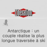Libération - un couple réalise la plus longue traversée à ski