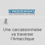 L'indépendant - Une carcassonnaise va traverser l'Antarctique