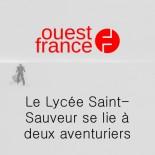 Ouest France - Le lycée Saint Sauveur se lie à deux aventuriers