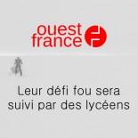 Ouest France - leur défi fou sera suivi par des lycéens