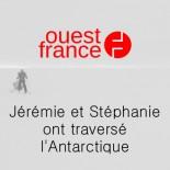 Ouest France - Stéphanie et Jérémie ont traversé l'Antarctique