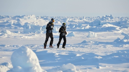 42,195 km autour du pôleNord